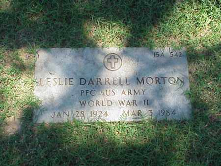 MORTON (VETERAN WWII), LESLIE DARRELL - Pulaski County, Arkansas | LESLIE DARRELL MORTON (VETERAN WWII) - Arkansas Gravestone Photos