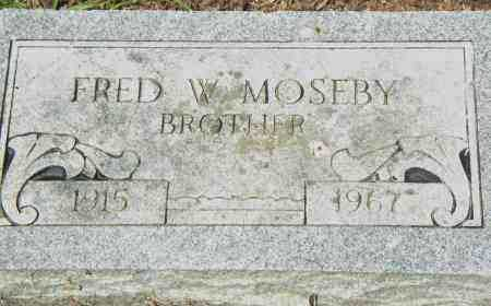 MOSBEY, FRED, W - Pulaski County, Arkansas | FRED, W MOSBEY - Arkansas Gravestone Photos
