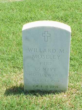 MOSELEY (VETERAN WWII), WILLARD M - Pulaski County, Arkansas | WILLARD M MOSELEY (VETERAN WWII) - Arkansas Gravestone Photos