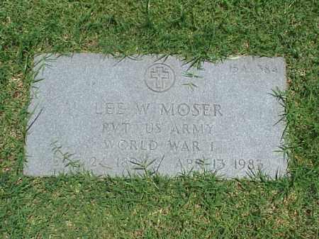 MOSER (VETERAN WWI), LEE W - Pulaski County, Arkansas | LEE W MOSER (VETERAN WWI) - Arkansas Gravestone Photos