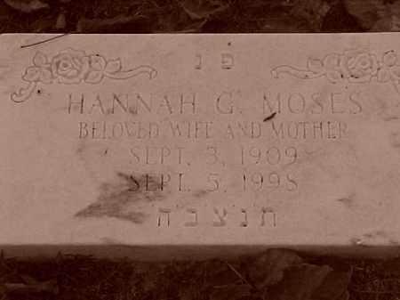 MOSES, HANNAH G - Pulaski County, Arkansas | HANNAH G MOSES - Arkansas Gravestone Photos