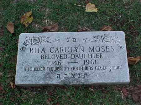 MOSES, RITA CAROLYN - Pulaski County, Arkansas | RITA CAROLYN MOSES - Arkansas Gravestone Photos