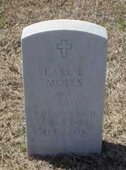 MOSES (VETERAN WWII), EARL E - Pulaski County, Arkansas | EARL E MOSES (VETERAN WWII) - Arkansas Gravestone Photos