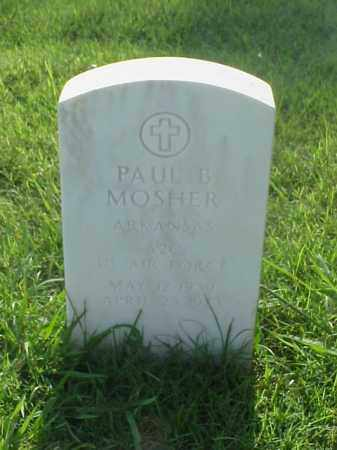 MOSHER (VETERAN), PAUL B - Pulaski County, Arkansas | PAUL B MOSHER (VETERAN) - Arkansas Gravestone Photos