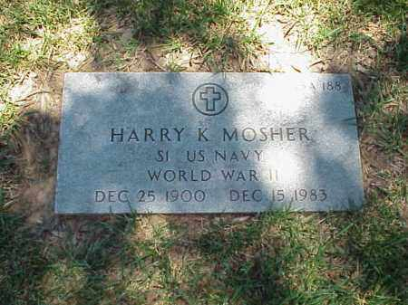 MOSHER (VETERAN WWII), HARRY K - Pulaski County, Arkansas | HARRY K MOSHER (VETERAN WWII) - Arkansas Gravestone Photos