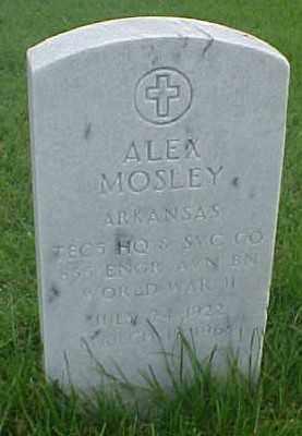 MOSLEY (VETERAN WWII), ALEX - Pulaski County, Arkansas | ALEX MOSLEY (VETERAN WWII) - Arkansas Gravestone Photos