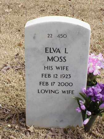 MOSS, ELVA L - Pulaski County, Arkansas | ELVA L MOSS - Arkansas Gravestone Photos