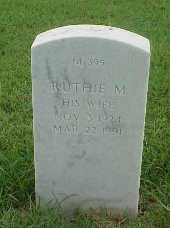 MOSS, RUTHIE M - Pulaski County, Arkansas | RUTHIE M MOSS - Arkansas Gravestone Photos