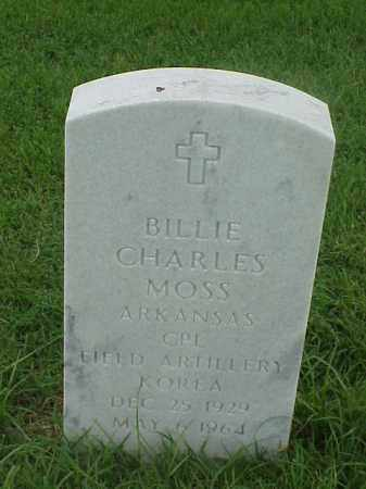 MOSS (VETERAN KOR), BILLIE CHARLES - Pulaski County, Arkansas | BILLIE CHARLES MOSS (VETERAN KOR) - Arkansas Gravestone Photos