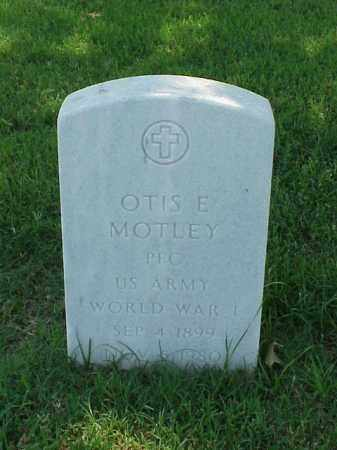 MOTLEY (VETERAN WWI), OTIS E - Pulaski County, Arkansas | OTIS E MOTLEY (VETERAN WWI) - Arkansas Gravestone Photos