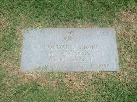 MOUL (VETERAN WWII), GEORGE C - Pulaski County, Arkansas | GEORGE C MOUL (VETERAN WWII) - Arkansas Gravestone Photos