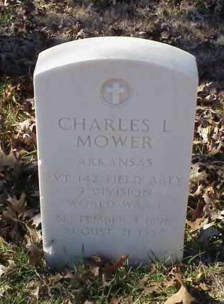 MOWER (VETERAN WWI), CHARLES L - Pulaski County, Arkansas | CHARLES L MOWER (VETERAN WWI) - Arkansas Gravestone Photos