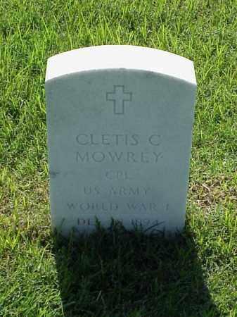 MOWREY (VETERAN WWI), CLETIS C - Pulaski County, Arkansas | CLETIS C MOWREY (VETERAN WWI) - Arkansas Gravestone Photos