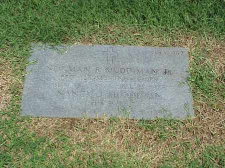 MUDDIMAN, JR (VETERAN KOR), NORMAN B - Pulaski County, Arkansas | NORMAN B MUDDIMAN, JR (VETERAN KOR) - Arkansas Gravestone Photos