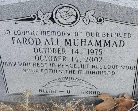 MUHAMMAD, FAROD ALI - Pulaski County, Arkansas | FAROD ALI MUHAMMAD - Arkansas Gravestone Photos