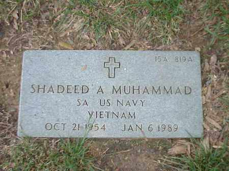 MUHAMMAD (VETERAN VIET), SHADEED A - Pulaski County, Arkansas | SHADEED A MUHAMMAD (VETERAN VIET) - Arkansas Gravestone Photos