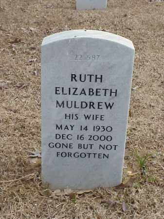 MULDREW, RUTH ELIZABETH - Pulaski County, Arkansas | RUTH ELIZABETH MULDREW - Arkansas Gravestone Photos
