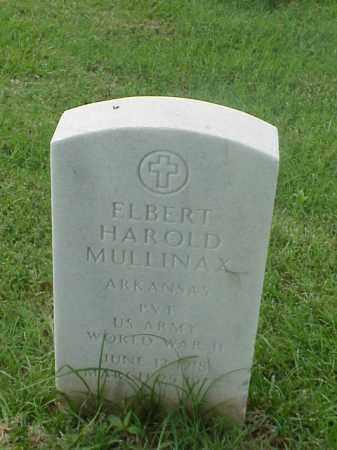 MULLINAX (VETERAN WWII), ELBERT HAROLD - Pulaski County, Arkansas | ELBERT HAROLD MULLINAX (VETERAN WWII) - Arkansas Gravestone Photos