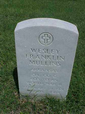 MULLINS (VETERAN WWII), WESLEY FRANKLIN - Pulaski County, Arkansas | WESLEY FRANKLIN MULLINS (VETERAN WWII) - Arkansas Gravestone Photos