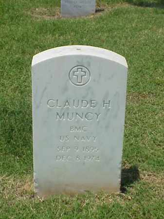 MUNCY (VETERAN WWII), CLAUDE H - Pulaski County, Arkansas | CLAUDE H MUNCY (VETERAN WWII) - Arkansas Gravestone Photos