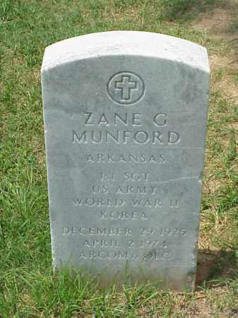 MUNFORD (VETERAN 3 WARS), ZANE G - Pulaski County, Arkansas | ZANE G MUNFORD (VETERAN 3 WARS) - Arkansas Gravestone Photos
