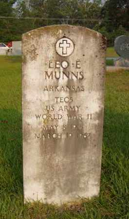 MUNNS (VETERAN WWII), LEO E. - Pulaski County, Arkansas | LEO E. MUNNS (VETERAN WWII) - Arkansas Gravestone Photos