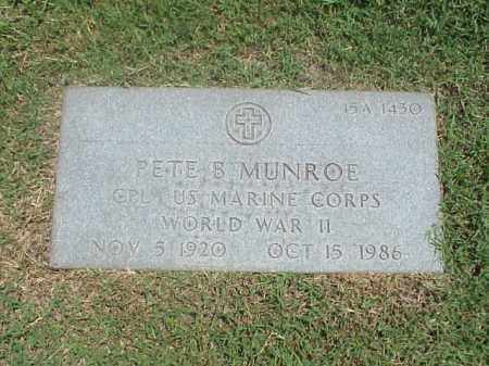 MUNROE (VETERAN WWII), PETE B - Pulaski County, Arkansas | PETE B MUNROE (VETERAN WWII) - Arkansas Gravestone Photos