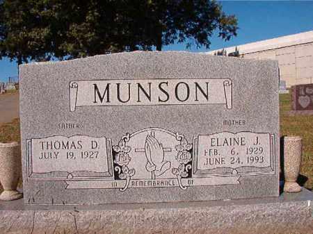 MUNSON, ELAINE J - Pulaski County, Arkansas | ELAINE J MUNSON - Arkansas Gravestone Photos