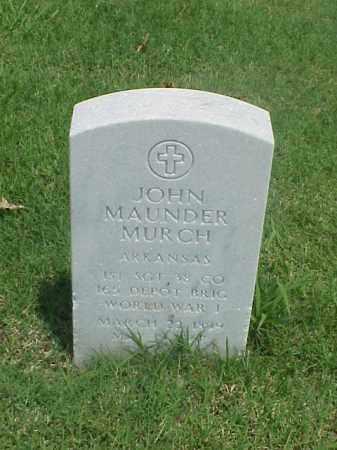 MURCH (VETERAN WWI), JOHN MAUNDER - Pulaski County, Arkansas | JOHN MAUNDER MURCH (VETERAN WWI) - Arkansas Gravestone Photos