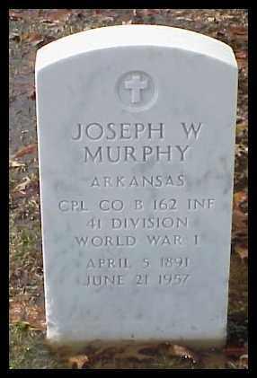 MURPHY (VETERAN WWI), JOSEPH W - Pulaski County, Arkansas | JOSEPH W MURPHY (VETERAN WWI) - Arkansas Gravestone Photos