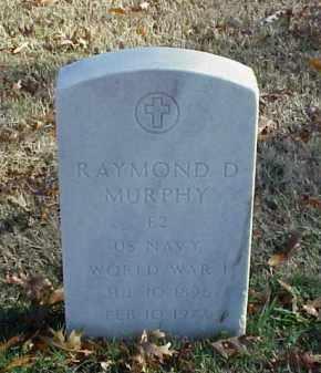 MURPHY (VETERAN WWI), RAYMOND D - Pulaski County, Arkansas | RAYMOND D MURPHY (VETERAN WWI) - Arkansas Gravestone Photos