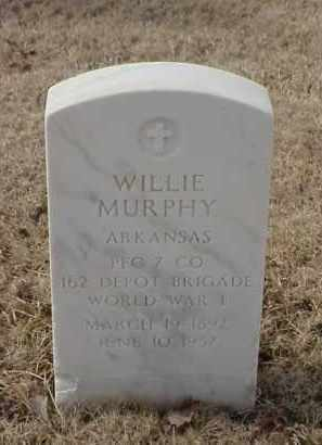 MURPHY (VETERAN WWI), WILLIE - Pulaski County, Arkansas | WILLIE MURPHY (VETERAN WWI) - Arkansas Gravestone Photos