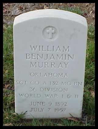 MURRAY (VETERAN 2 WARS), WILLIAM BENJAMIN - Pulaski County, Arkansas | WILLIAM BENJAMIN MURRAY (VETERAN 2 WARS) - Arkansas Gravestone Photos
