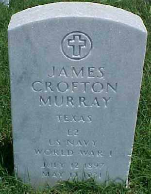 MURRAY (VETERAN WWI), JAMES CROFTON - Pulaski County, Arkansas | JAMES CROFTON MURRAY (VETERAN WWI) - Arkansas Gravestone Photos