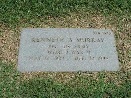 MURRAY (VETERAN WWII), KENNETH A - Pulaski County, Arkansas | KENNETH A MURRAY (VETERAN WWII) - Arkansas Gravestone Photos