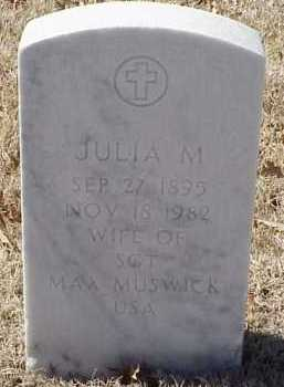 MUSWICK, JULIA M. - Pulaski County, Arkansas | JULIA M. MUSWICK - Arkansas Gravestone Photos