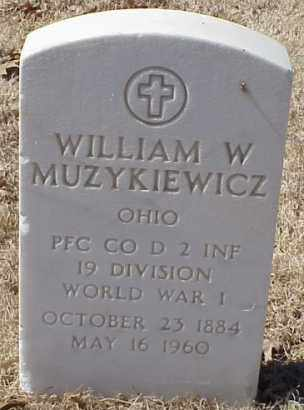 MUZYKIEWICZ  (VETERAN WWI), WILLIAM W - Pulaski County, Arkansas | WILLIAM W MUZYKIEWICZ  (VETERAN WWI) - Arkansas Gravestone Photos