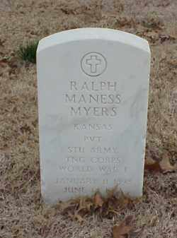 MYERS  (VETERAN WWI), RALPH MANESS - Pulaski County, Arkansas | RALPH MANESS MYERS  (VETERAN WWI) - Arkansas Gravestone Photos
