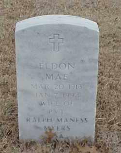 MYERS, ELDON MAE - Pulaski County, Arkansas | ELDON MAE MYERS - Arkansas Gravestone Photos