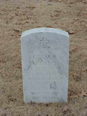 MYERS, SR (VETERAN 3 WARS), CLEM B - Pulaski County, Arkansas | CLEM B MYERS, SR (VETERAN 3 WARS) - Arkansas Gravestone Photos