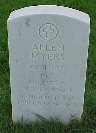 MYERS (VETERAN WWI), ALLEN - Pulaski County, Arkansas | ALLEN MYERS (VETERAN WWI) - Arkansas Gravestone Photos