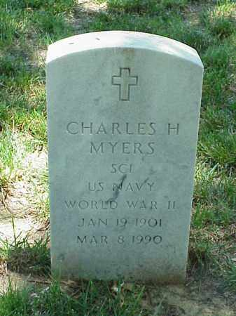 MYERS (VETERAN WWII), CHARLES H - Pulaski County, Arkansas | CHARLES H MYERS (VETERAN WWII) - Arkansas Gravestone Photos