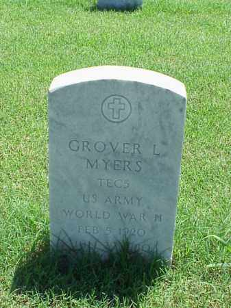 MYERS (VETERAN WWII), GROVER L - Pulaski County, Arkansas | GROVER L MYERS (VETERAN WWII) - Arkansas Gravestone Photos