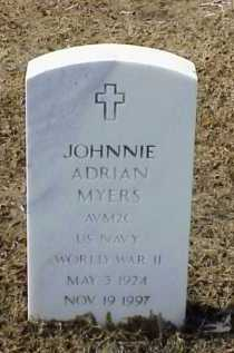 MYERS (VETERAN WWII), JOHNNIE ADRIAN - Pulaski County, Arkansas | JOHNNIE ADRIAN MYERS (VETERAN WWII) - Arkansas Gravestone Photos