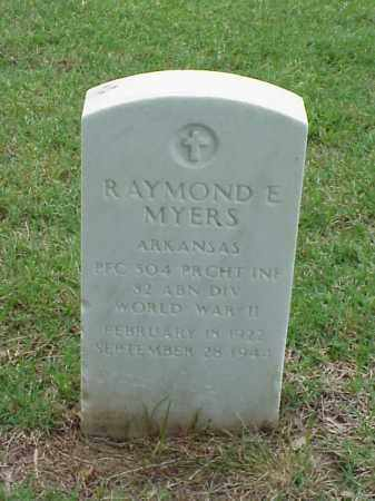 MYERS (VETERAN WWII), RAYMOND E - Pulaski County, Arkansas | RAYMOND E MYERS (VETERAN WWII) - Arkansas Gravestone Photos