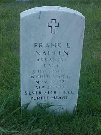 NAHLEN (VETERAN WWII), FRANK L - Pulaski County, Arkansas | FRANK L NAHLEN (VETERAN WWII) - Arkansas Gravestone Photos