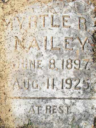 NAILEY, MYRTLE R - Pulaski County, Arkansas | MYRTLE R NAILEY - Arkansas Gravestone Photos