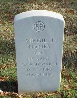 NANES (VETERAN WWII), VIRGIL J - Pulaski County, Arkansas | VIRGIL J NANES (VETERAN WWII) - Arkansas Gravestone Photos
