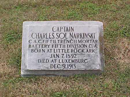 NARKINSKI (VETERAN WWI), CHARLES SOL - Pulaski County, Arkansas | CHARLES SOL NARKINSKI (VETERAN WWI) - Arkansas Gravestone Photos