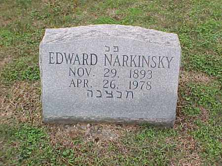 NARKINSKY, EDWARD - Pulaski County, Arkansas | EDWARD NARKINSKY - Arkansas Gravestone Photos
